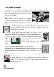 english worksheets nelson mandela and apartheid. Black Bedroom Furniture Sets. Home Design Ideas