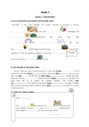 English Worksheet: birthday party