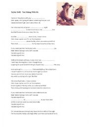 English Worksheet: TYLOR SWIFT - You belong with me