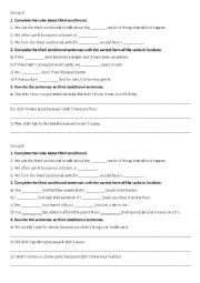 English Worksheet: Third conditional Test