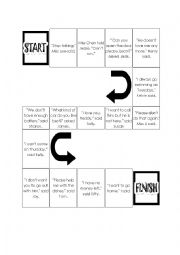English Worksheet: Reported Speech board game