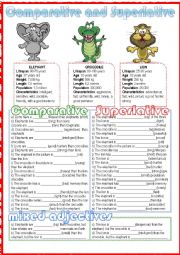 English Worksheet: Comparative and Superlative