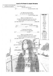 English Worksheet: Hand in my pocket - song - Present simple and continuous