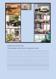 English Worksheet: Describing a house