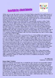 english worksheets human rights worksheets page 4. Black Bedroom Furniture Sets. Home Design Ideas