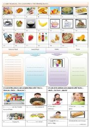 English Worksheet: Time for lunch part 3