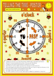 English Worksheet: Telling the time - Poster