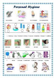 English Worksheet: Personal Hygiene
