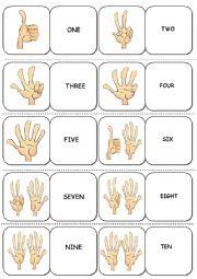 English Worksheet: Numbers DOMINOES (1-10)