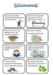 English Worksheet: speaking cards (linkers/conjunctions) (part two)