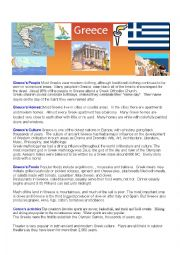 English Worksheet: Greece fact sheet