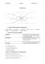 English Worksheet: The Brain Drain (Bac)
