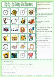 English Worksheet: My Day - by Cickany the Chimpanzee