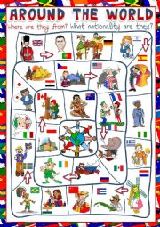 Around the world - board game