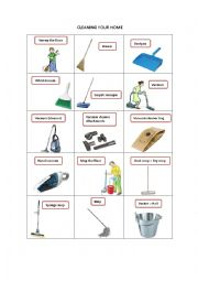 English Worksheet: CLEANING YOUR HOME