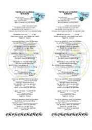 English Worksheet: PRINTABLE SONG- NEVER SAY GOODBYE BON JOVI