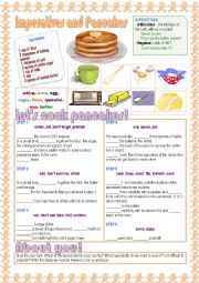 English Worksheet: Imperatives and Pancakes