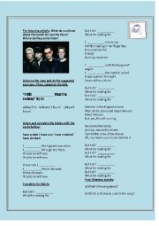 English Worksheet: Song: I still haven´t found What i´m looking for