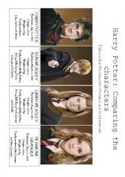 English Worksheet: Harry Potter: Comparatives and Superlatives