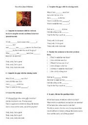 English Worksheet: Second conditional - present unreal - One of Us (song activity)