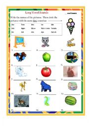 English Worksheet: Long Vowel I