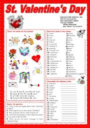 English Worksheet: St. Valentine´s Day