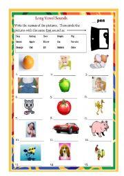 English Worksheet: Long Vowel O