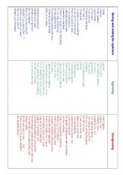 English Worksheet: Giving and asking for opinions, agreeing and disagreeing