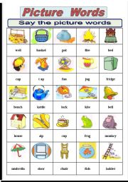 English Worksheet: Picture words