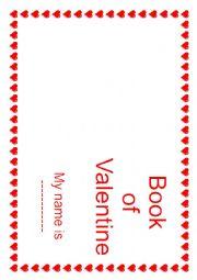 English Worksheet: My Valentine Book 1/2
