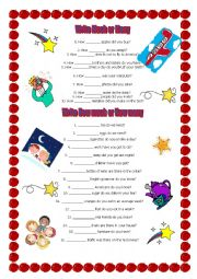 English Worksheet: How much or How many? exercises * * *