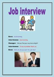 Job interview role-play