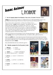 English Worksheet: I Robot Pre Listening Three Exercises