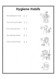 English Worksheet: Hygiene habits