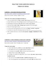 English Worksheet: Listening activities - with short videos from Youtube