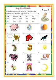 English Worksheet: Long Vowel OO