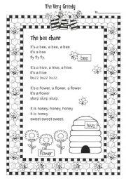 English Worksheet: The Very Greedy Bee 1/3