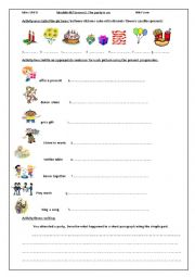 English Worksheet: Lesson 2: the party is on
