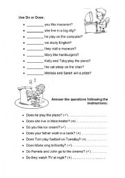 English Worksheets: Questions!!