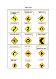 English Worksheet: TRAFFIC SIGNS 2