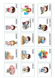English Worksheet: Action verbs (3 out 5)