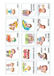 English Worksheet: Action verbs (4 out 5)