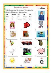 English Worksheet: Long Vowel U