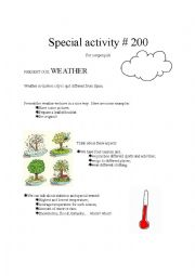 English Worksheet: pen pal activity - weather
