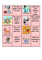 English Worksheet: Memory game