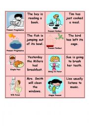 English Worksheet: Memory Game - part 2