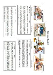 English Worksheet: Physical description: this is my family! Reading comprehension.