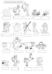 english worksheets the animals worksheets page 239. Black Bedroom Furniture Sets. Home Design Ideas