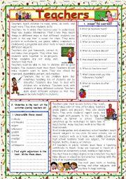 English Worksheet: Teachers (+KEY)
