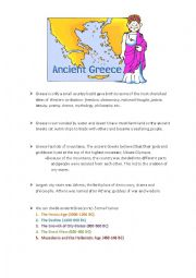 English Worksheet: Notes on Ancient Greece